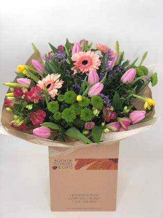 Bouquet in Eco Packaging - Booker Flowers and Gifts