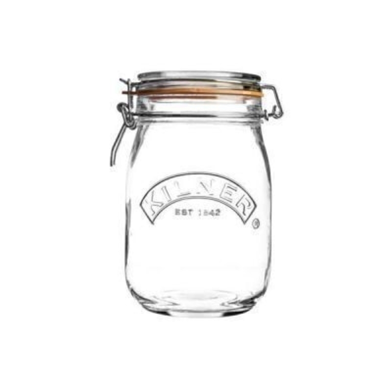 1 Litre Round Clip Top Storage Jar by Kilner: Booker Gifts