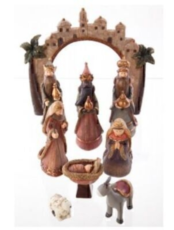 9 Piece Detailed Nativity Set By Heaven Sends: Booker Gifts