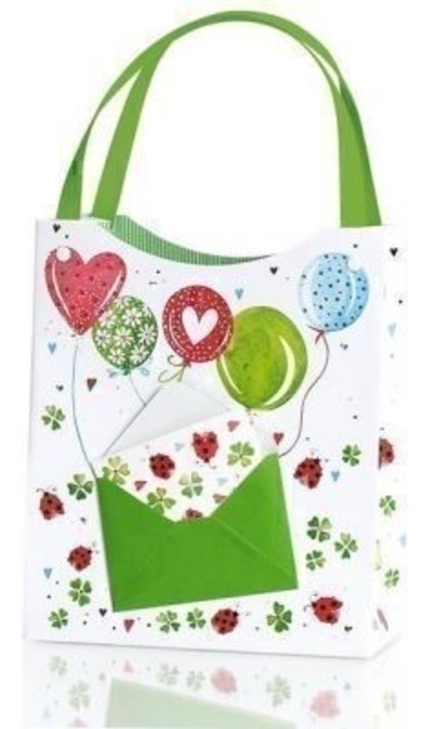 Alina Gift Bag By Stewo Balloons And Ladybirds Design: Booker Gifts