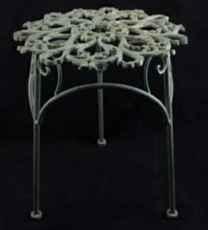 Antique Verdigree Metal Plant Stand by Gisela Graham: Booker Gifts