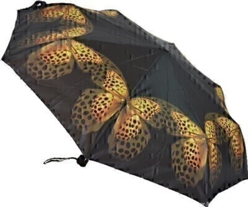 Artbrollies Yellow Butterfly Folding Umbrella: Booker Gifts