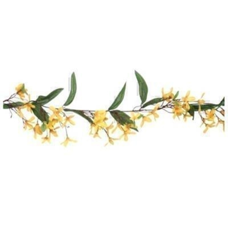 Artificial Flower Yellow Forsythia Garland by Gisela Graham: Booker Gifts