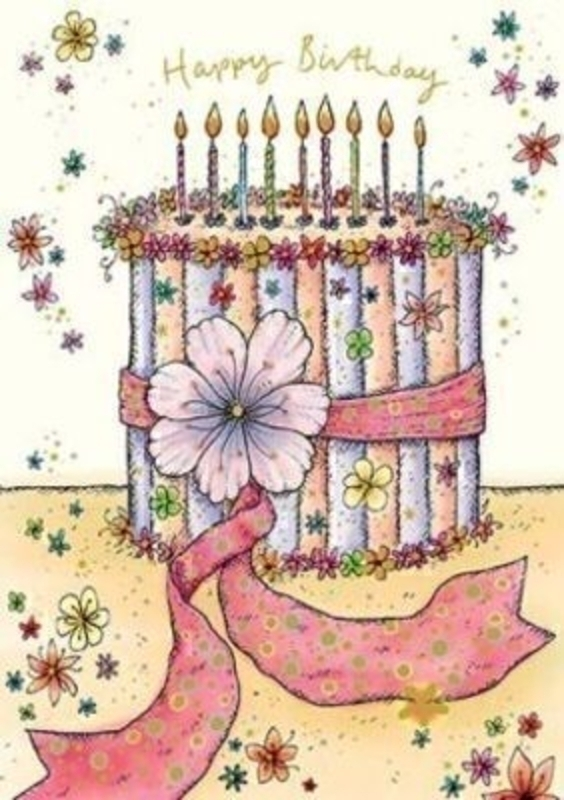 Birthday Card Cake and Candles by Paper Rose: Booker Gifts