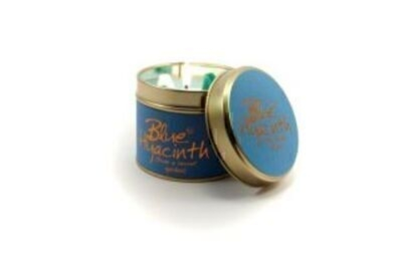 Blue Hyacinth Scented Candle By Lily Flame: Booker Gifts