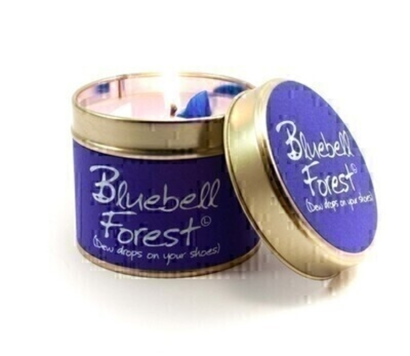 Let Lily Flame scented candles transport you to a different place - Bluebell Forest; Dewdrops on Your Shoes. The sun's rays making you squint. The soft earth beneath your feet the forest's dappled canopy above. Burn Time 35 hours. Dimensions 7.7 x 6.6cm