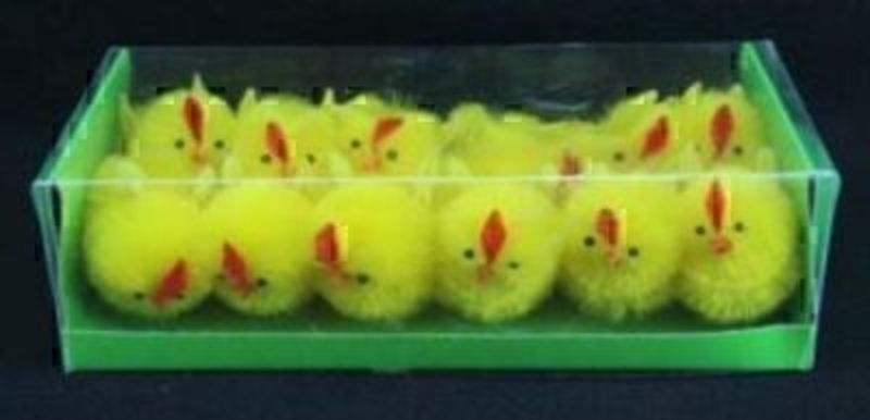 Box Of 12 Mini Yellow Chicks By Gisela Graham: Booker Gifts
