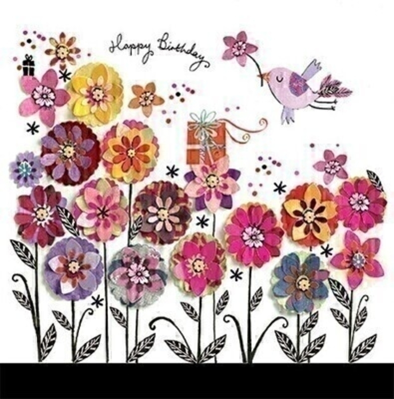 Bright Flower Meadow Birthday Card by Paper Rose: Booker Gifts