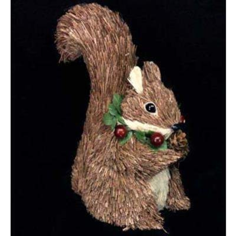 Bristle Squirrel Ornament by Gisela Graham: Booker Gifts