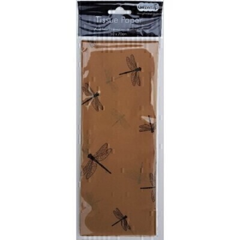 Brown Dragonfly Tissue Paper By Stewo: Booker Gifts