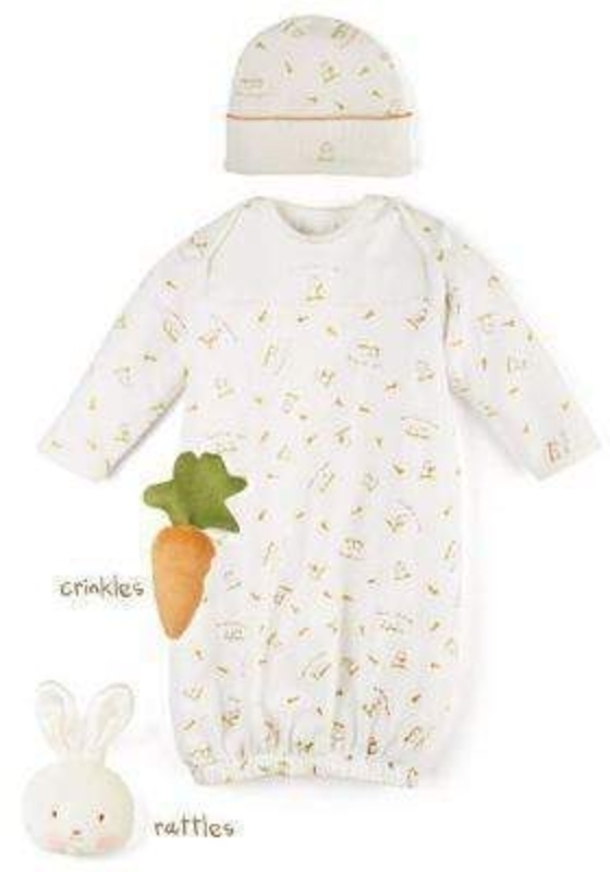 Bunny Rabbit Sleep Suit and Hat by Deva Designs: Booker Gifts