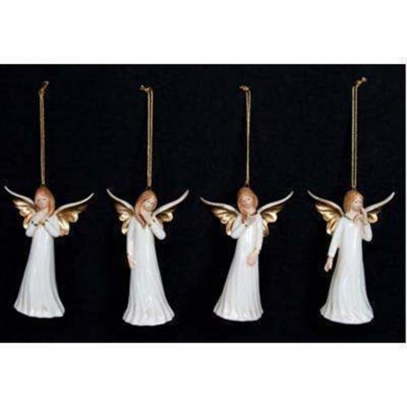 Ceramic Angel Decoration by Gisela Graham: Booker Gifts