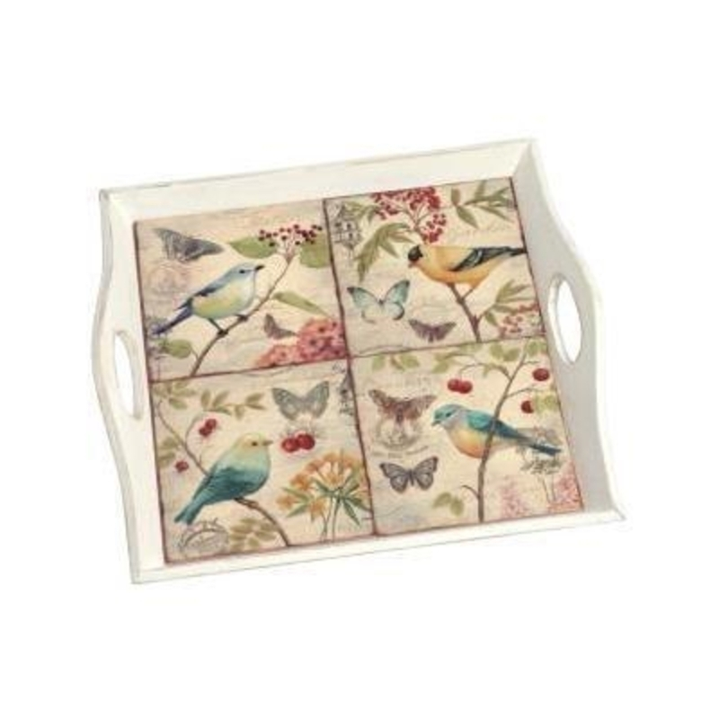 Ceramic Tile Bird Tray by Transomnia: Booker Gifts