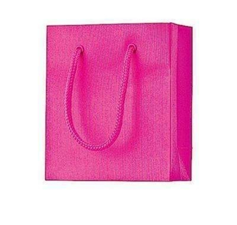 Cerise Pink Gift Bag - One colour Small Cerise by Stewo: Booker Gifts