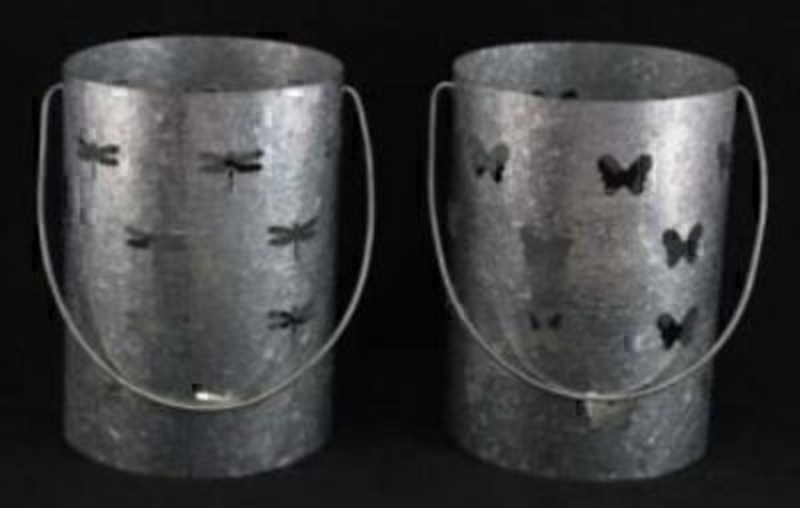 Choice Of Butterfly Or Dragonfly Tin T-light Holder: Booker Gifts