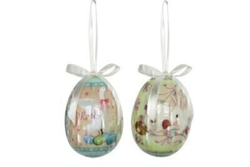 Choice of 2 Goose Or Bunny Hanging Easter Egg Decoration by Gisela Graham: Booker Gifts
