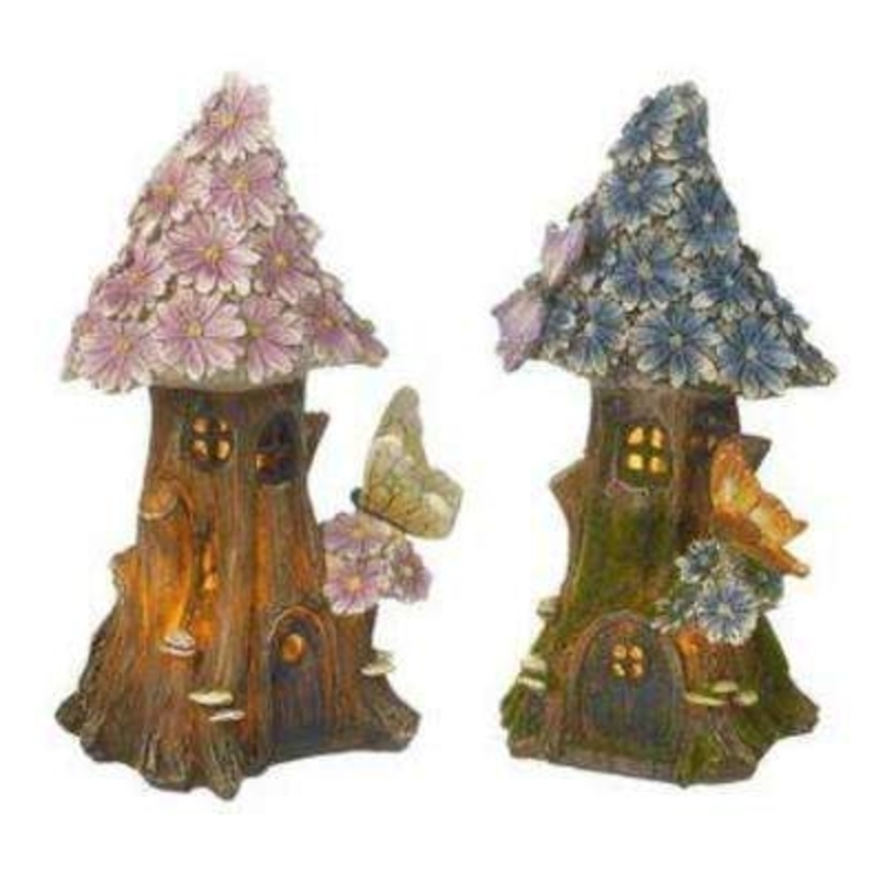 Choice of 2 Solar Powered Light Up House Garden Decoration by Heaven Sends: Booker Gifts