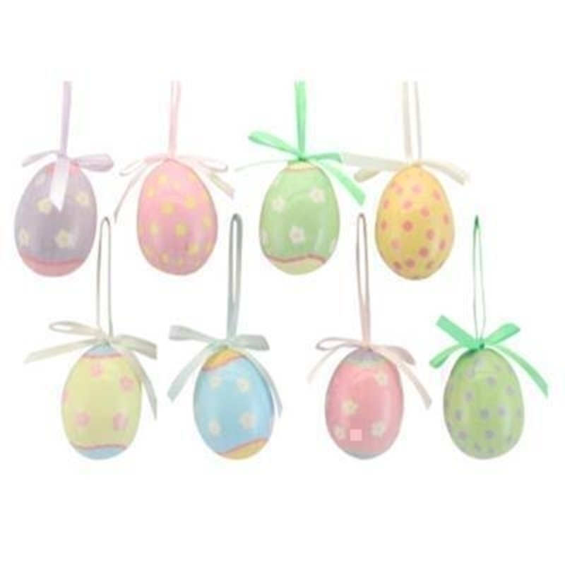 Choice of 8 Pastel Easter Egg Decoration by Gislea Graham: Booker Gifts