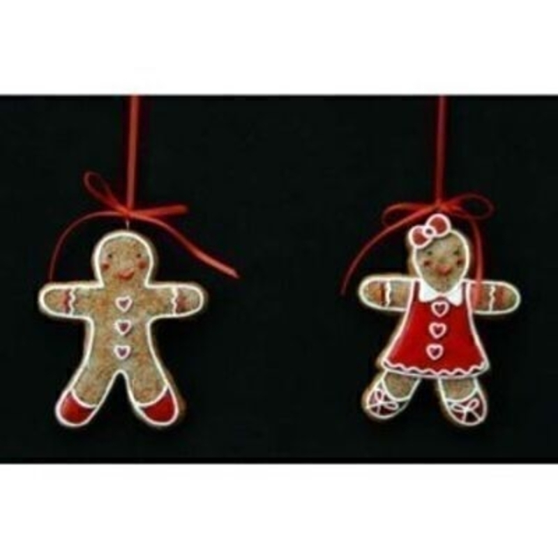 Choice of Gingerbread Man or Woman Christmas Decoration: Booker Gifts