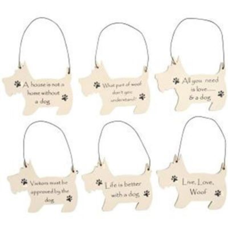 Choice of Mini Dog Shape Sign by Transomnia: Booker Gifts