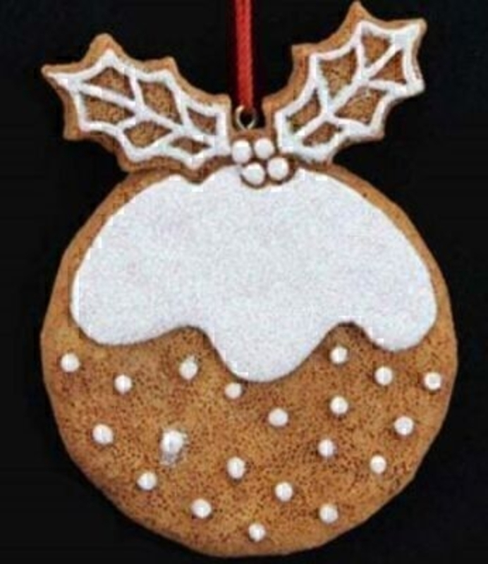Christmas Pudding Xmas Tree Decoration by Gisela Graham: Booker Gifts