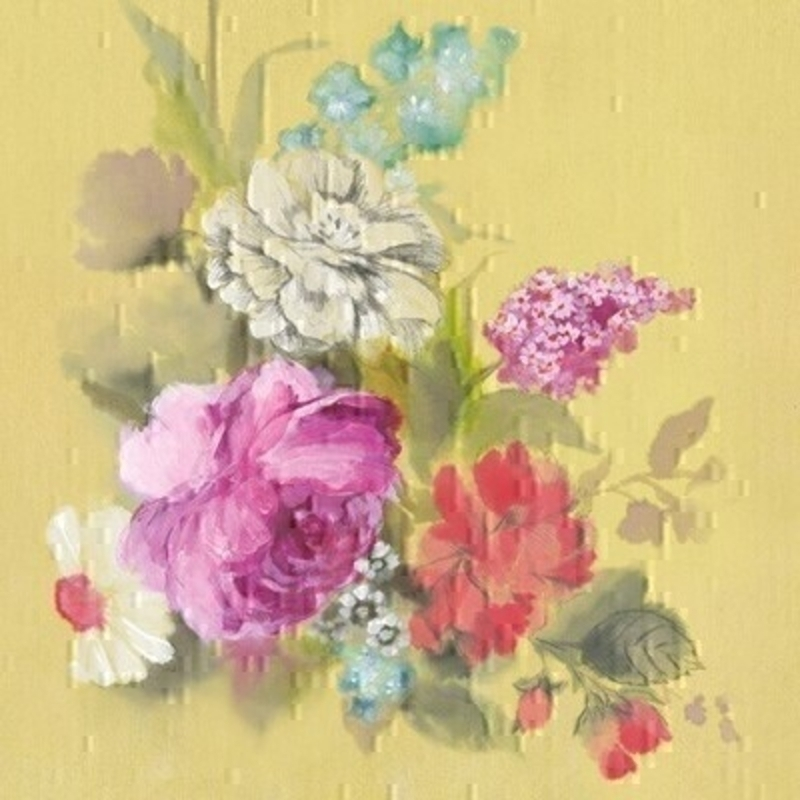 Colourful Painted Flowers Blank Card by Paper Rose: Booker Gifts