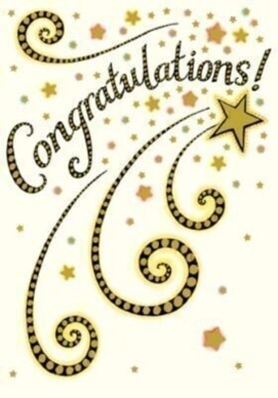 congratulations card congratulations star by paper rose