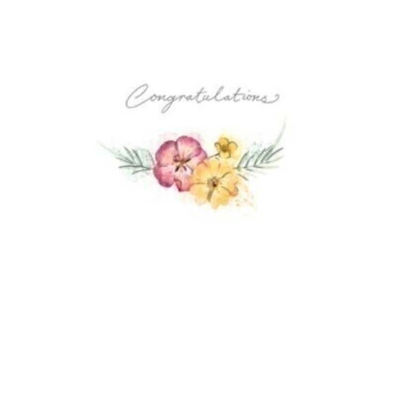 Congratulations Flowers Greetings Card by Paper Rose: Booker Gifts