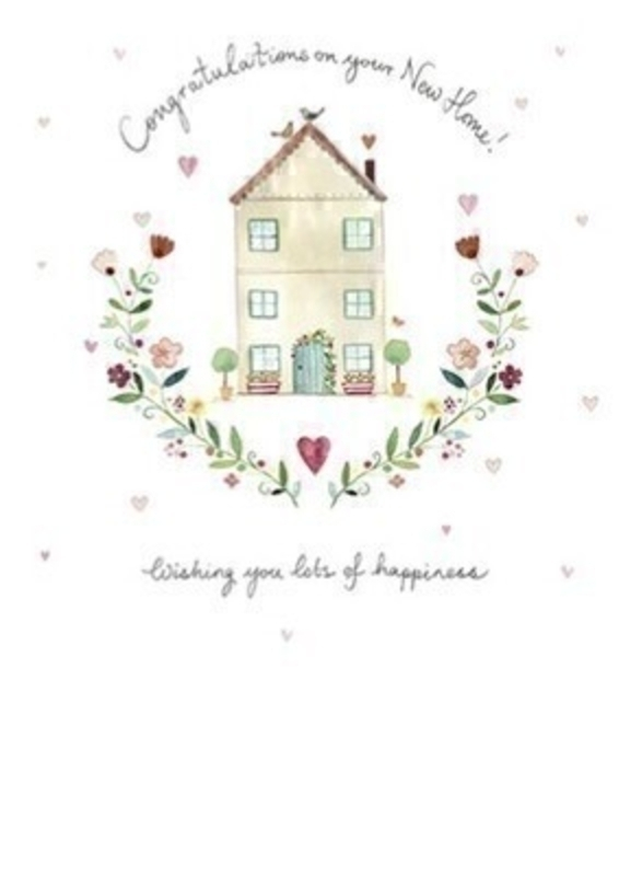 congratulations on your new home blank greetings card with envelope