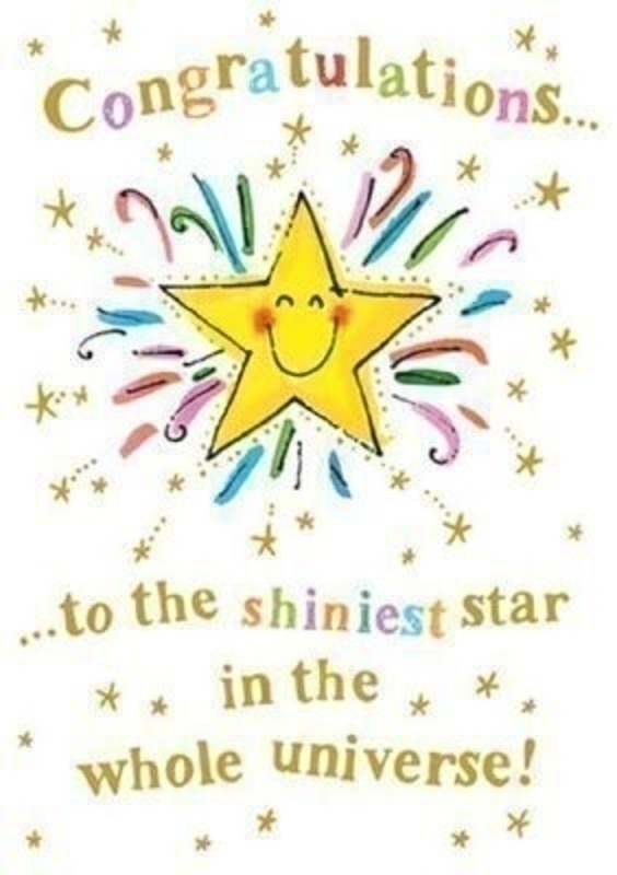 Congratulations Star Card By Paper Rose: Booker Gifts