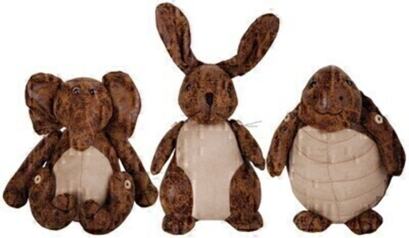 Cute Animal Material Doorstops Choice of 3: Booker Gifts