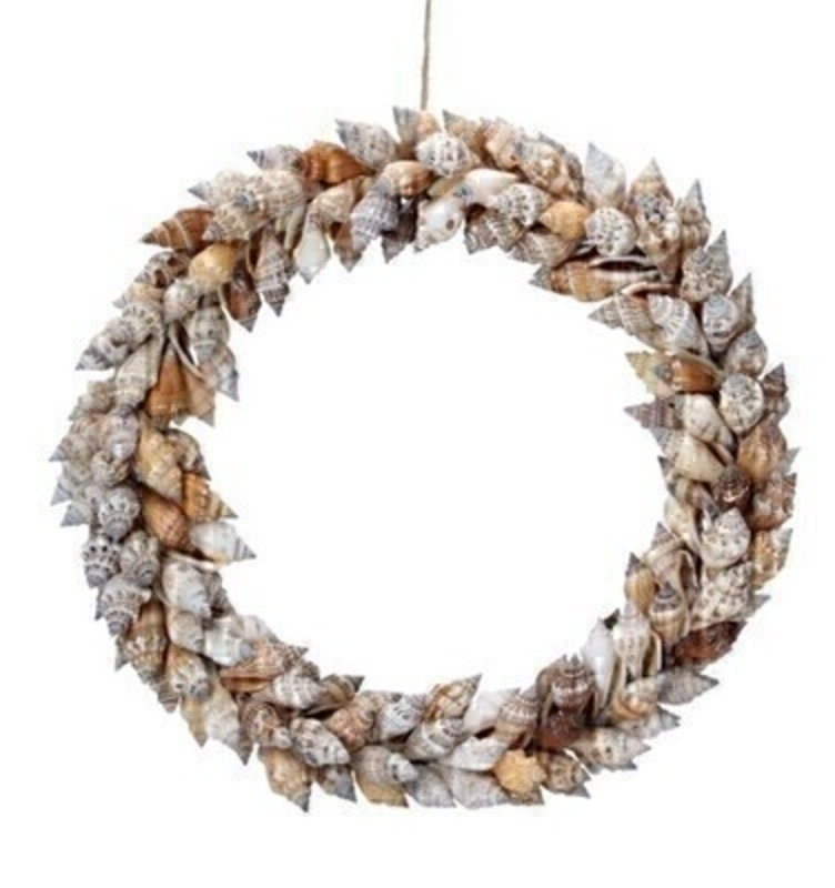 Door Wreath Brown Chula Shell by Gisela Graham: Booker Gifts