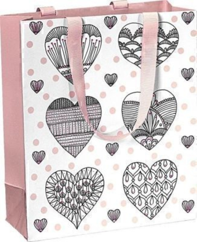 Drawn Hearts Gift Bag - Kaori Small by Stewo: Booker Gifts