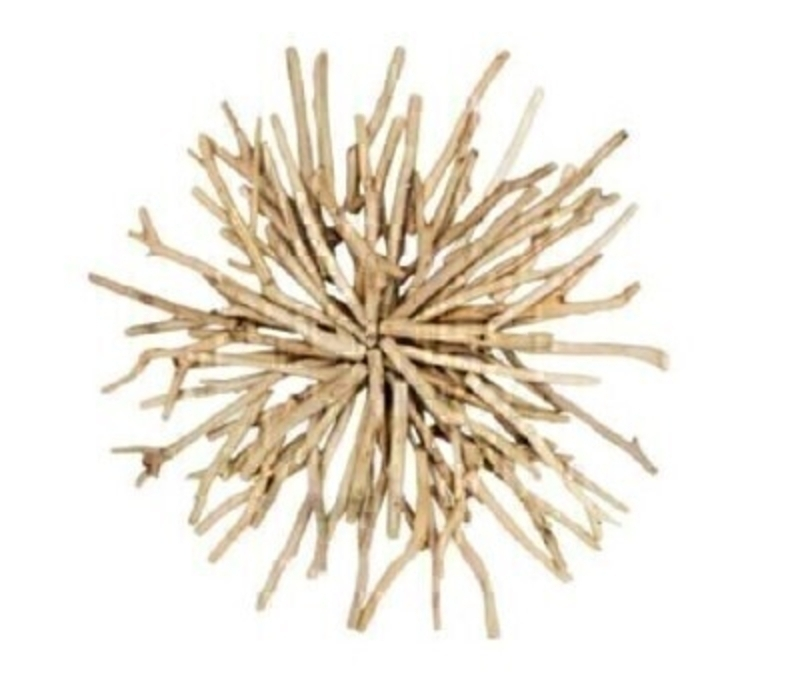 Rustic driftwood sunburst wall art decoration by designer Gisela Graham.   Add a rustic nautical touch to your home décor with this natural wall art decoration.  Made from natural wood it would look great hung on the wall in your living room or bathroom.