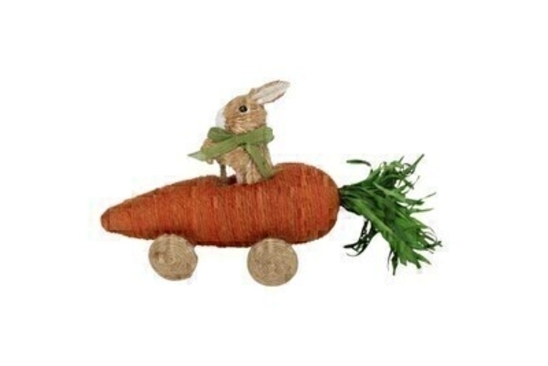 Easter Bunny In Carrot Car Ornament by Gisela Graham: Booker Gifts