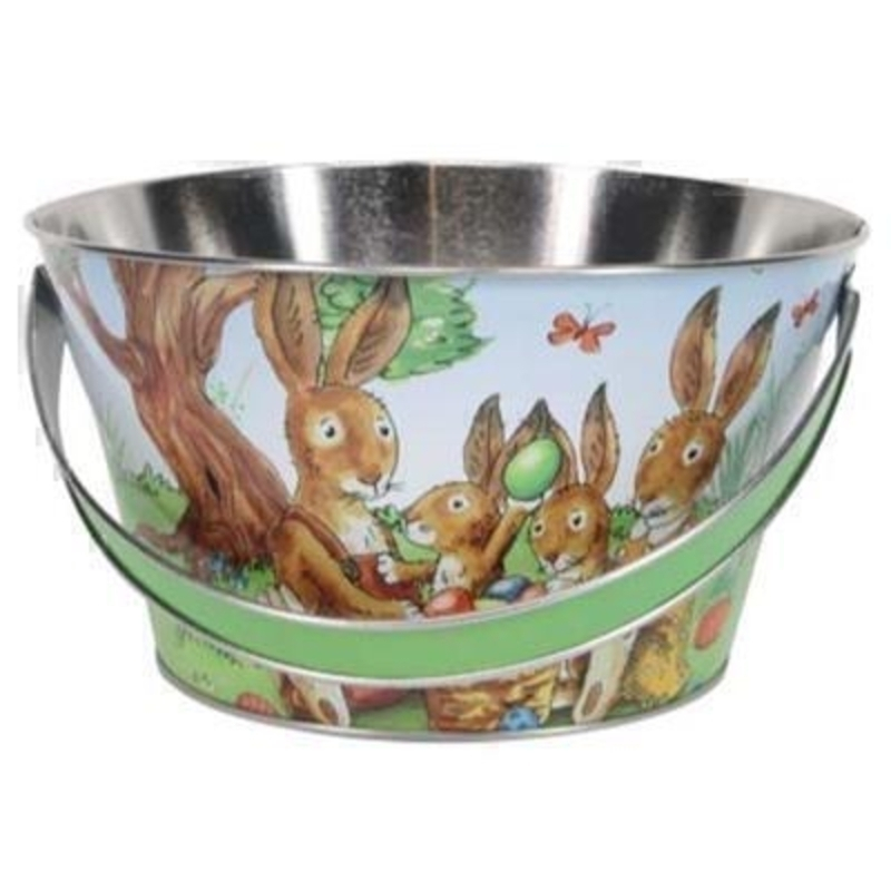 Easter Bunny Rabbit Tin Basket by Gisela Graham: Booker Gifts