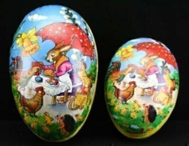 Easter Scene Egg Box Set Of 2 By Gisela Graham: Booker Gifts