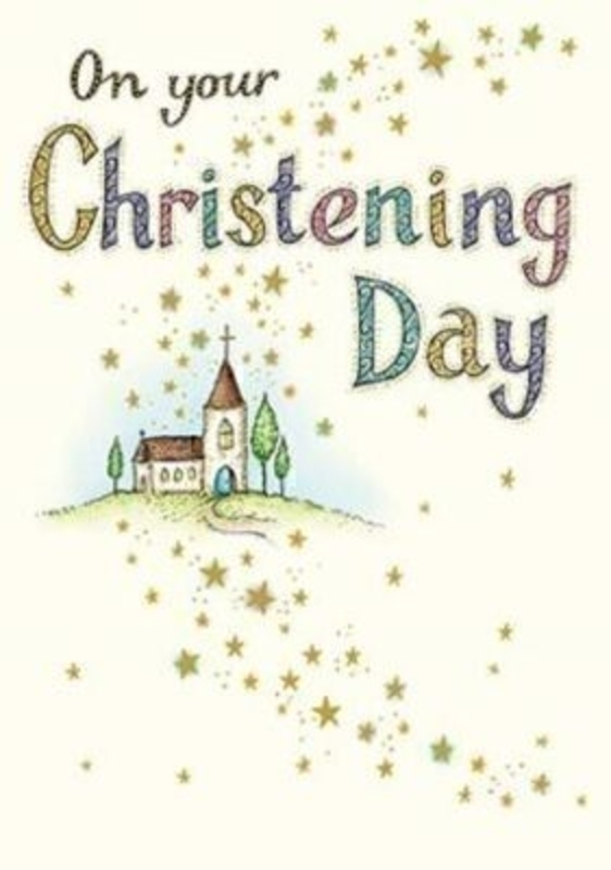 Embossed Church Christening Card By Neapolitan: Booker Gifts