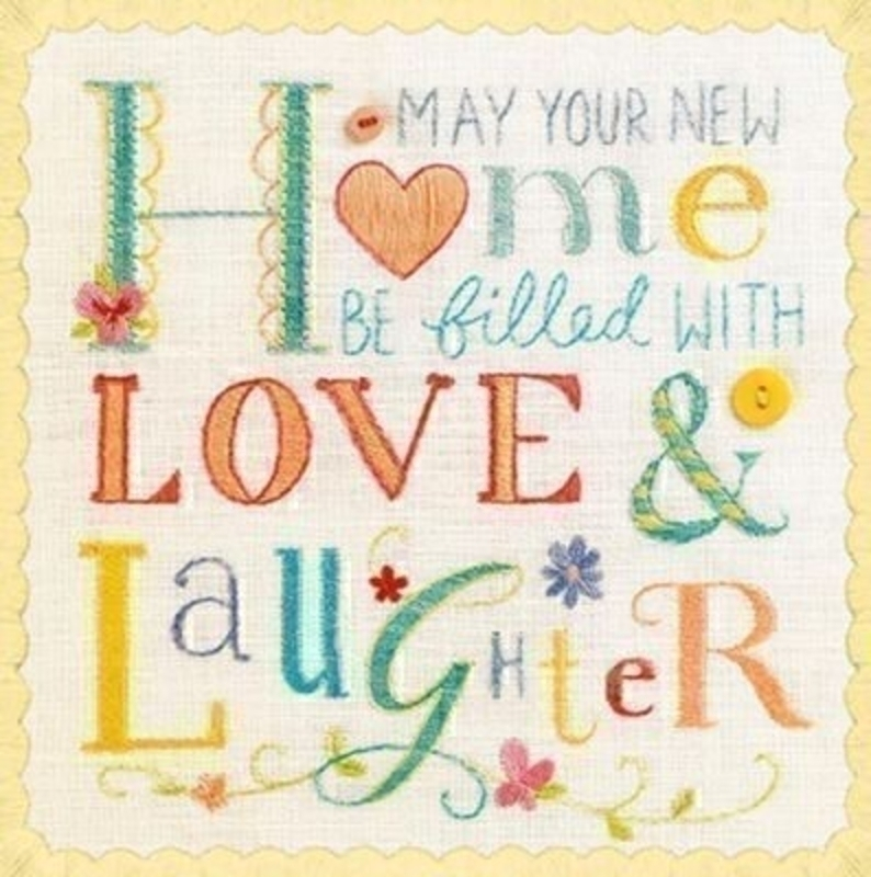 Embroidery And Buttons New Home Card By Born To Stich: Booker Gifts