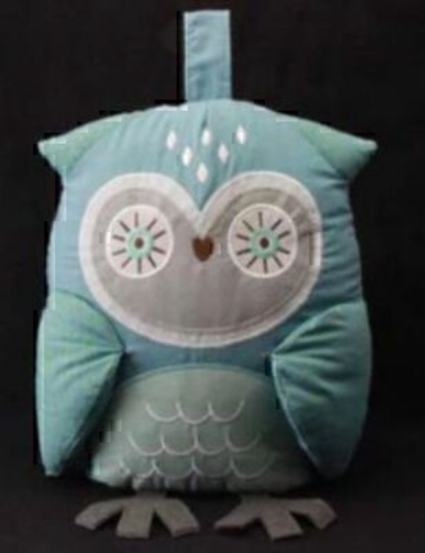 Part of the Gisela Graham 'Forest Friends' Range. Fabric Owl Doorstop. Decorative gift for girls or boys bedroom size - 24x18x10cm
