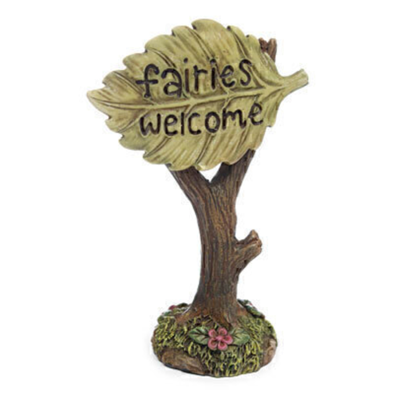 Fairy Garden Leaf Sign - By Woodland Knoll: Booker Gifts