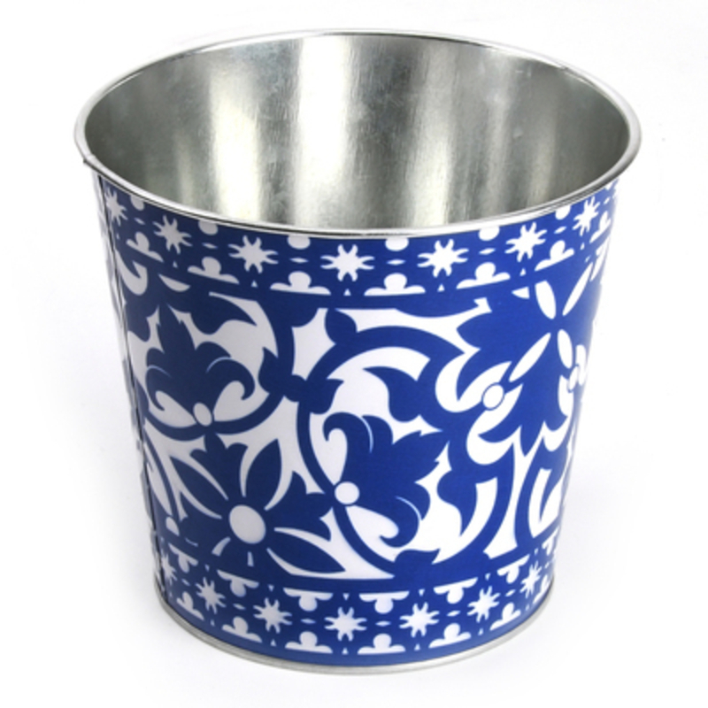 Fallen Fruits Blue and White Portuguese Flowerpot: Booker Gifts