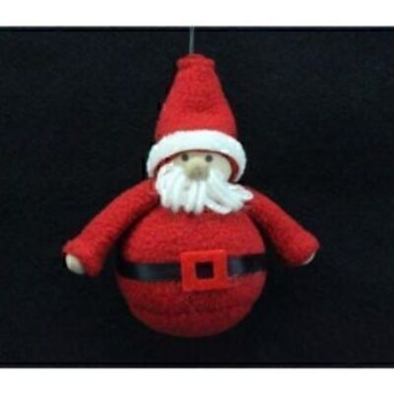 Felt Santa Father Xmas Tree Decoration by Gisela Graham: Booker Gifts