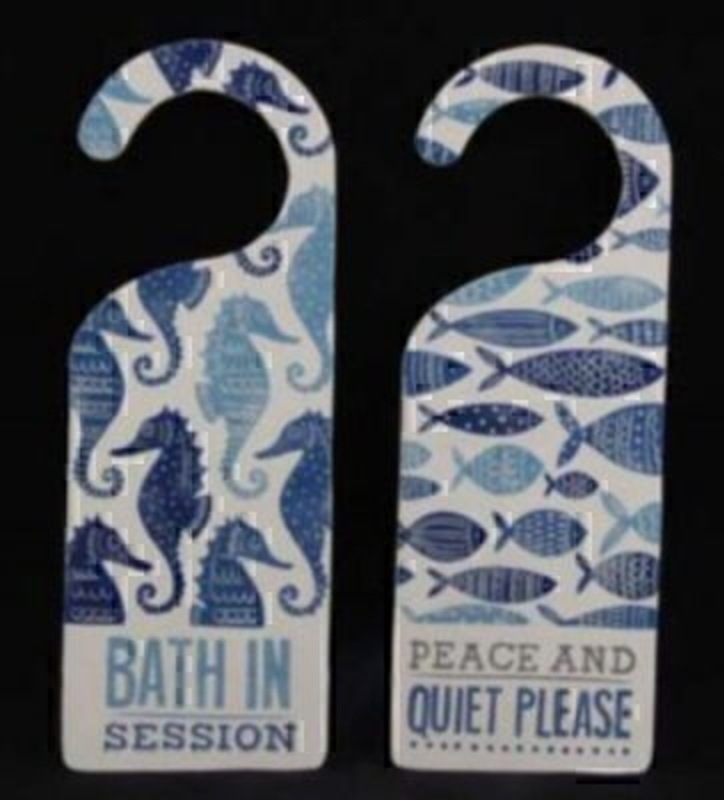 Fishes or Seahorse Doorhanger by Gisela Graham: Booker Gifts