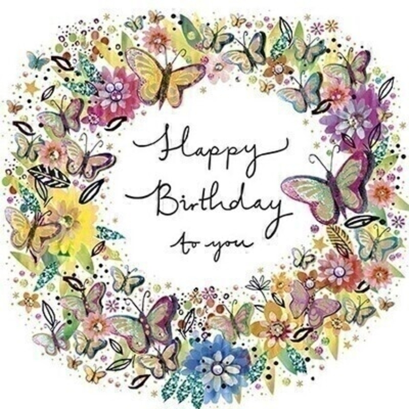 Floral Wreath Birthday Greetings Card by Paper Rose: Booker Gifts