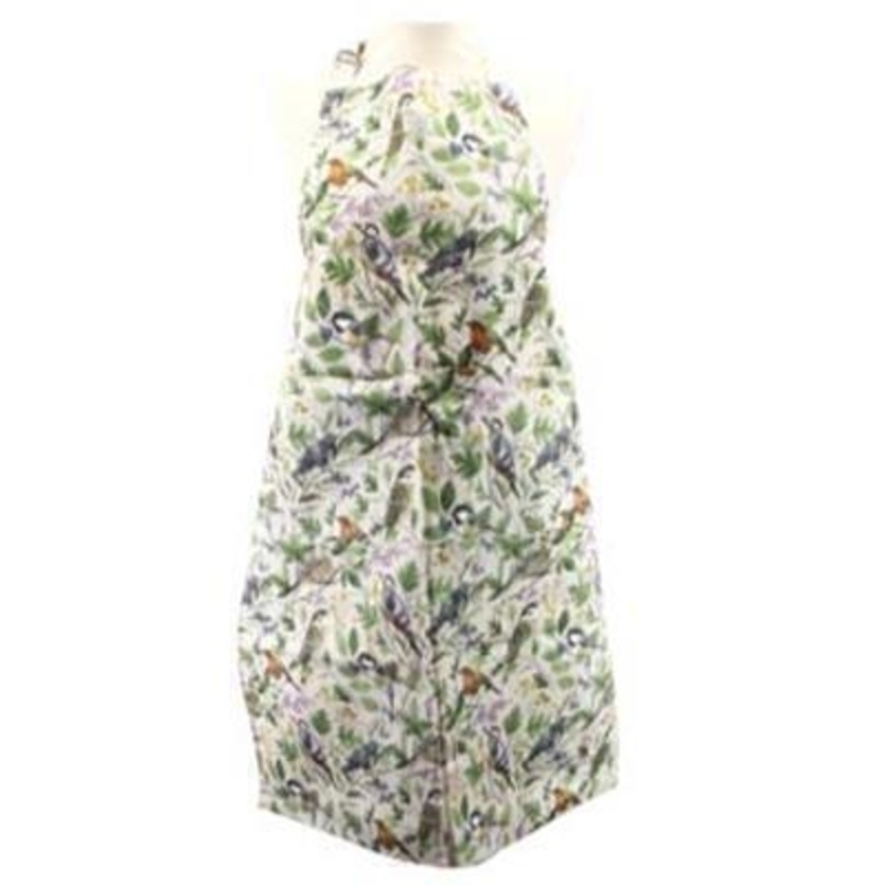 Garden Birds Cotton Apron by Gisela Graham: Booker Gifts