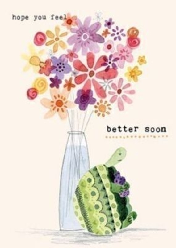 Get Well Soon Card Poorly Turtle by the Art Group: Booker Gifts