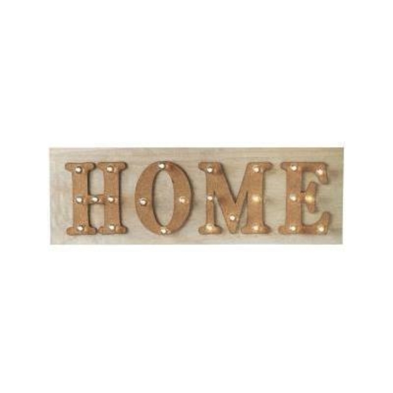 Giant Illuminated HOME Sign by Transomnia: Booker Gifts