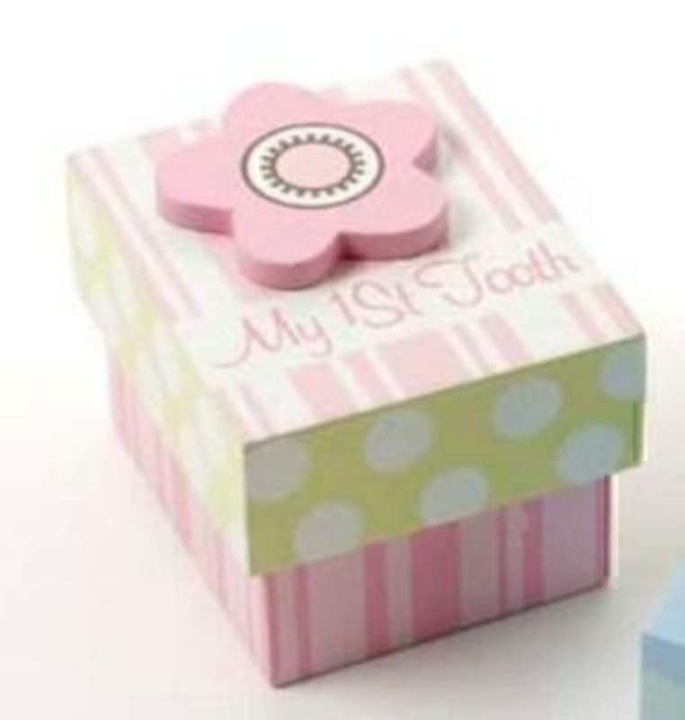Girls My First Tooth Box In Pink By Heaven Sends: Booker Gifts