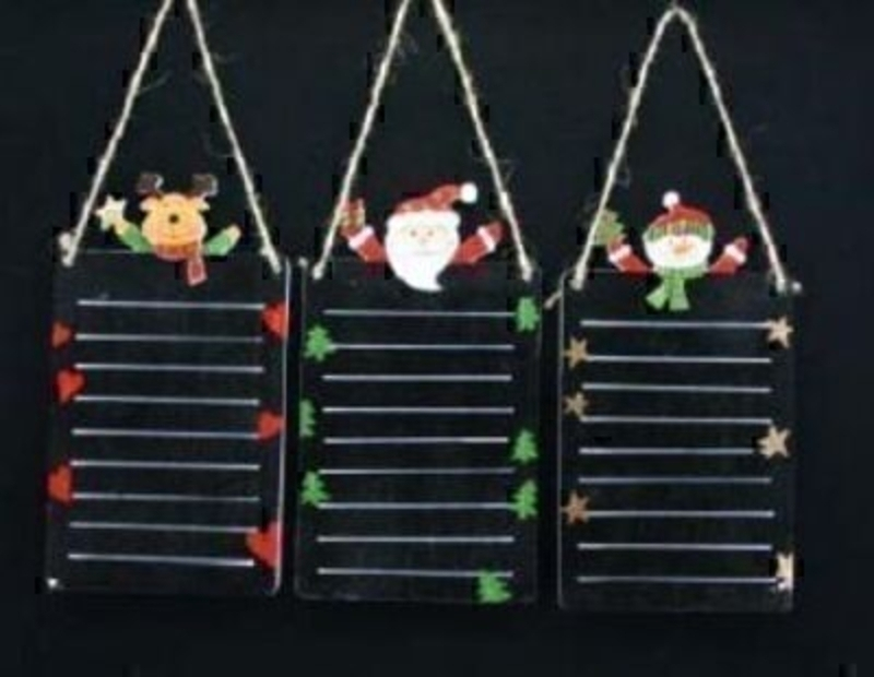 Gisela Graham Santa List Chalk Board.  Choice Of 3: Booker Gifts